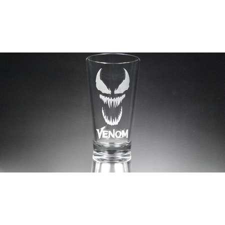 Venom Glass, Marvel Comics, Venom Movie Glass, Etched Glass, Personalized Gift. thumb