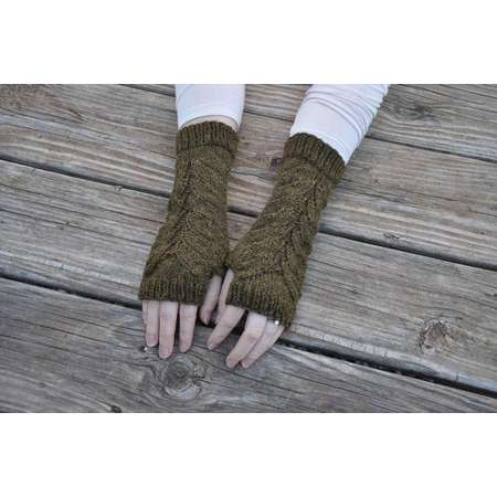 READY TO SHIP, Outlander inspired fingerless gloves, fern leaf fingerless mitts, Claire's gloves, green knit arm warmers, alpaca/wool blend thumb