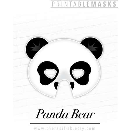 421e4cbde31 Panda Bear Printable Animal Mask