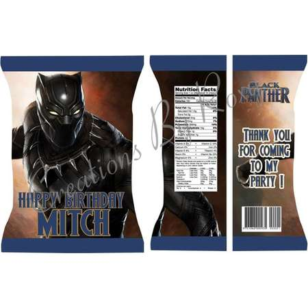 Black Panther  Printable Chip Bag/ Matching Accessories Available thumb