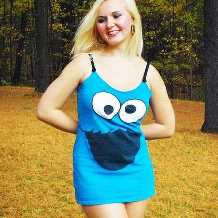 Cookie Monster Dress // Sesame Street Halloween Costume // Cookie Monster Costume Cosplay thumb
