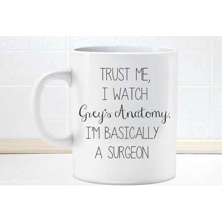 Grey's Anatomy Mug  Trust me, i watch grey's anatomy i'm basically a surgeon thumb