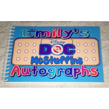 Personalized Disney Autograph Book Doc McStuffins  - Free Personalization - NEW thumb