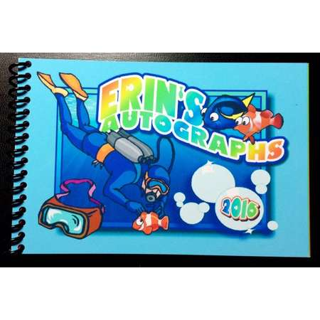 Personalized Disney Autograph Book FINDING NEMO - Finding Dory Theme Design - Custom Book - Free Personalization thumb