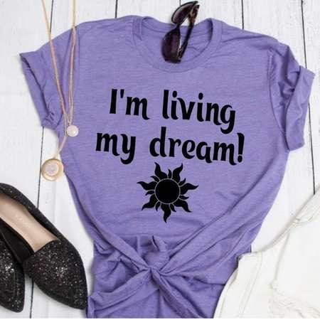 9f81a959 I'm living my dream // Tangled Shirt // Rapunzel Disney Tee // Women's  Princess Tee // Rapunzel Shirt // Flynn Rider Tee // I've Got a Dream