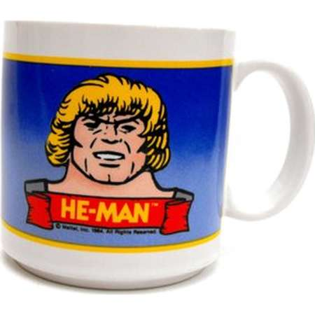 1984 He-Man & Skeletor Mug RARE Vintage Mattel Masters of the Universe Collectible Coffee Cup He Man Gift She-Ra Animated TV Comic Superhero thumb