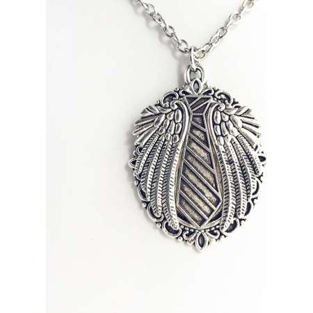 Castiel Supernatural Inspired Pendant Necklace / Silver Cas Lover Gift Supernatural CW Cosplay Costume Castiel Fan Pendant Jewelry thumb