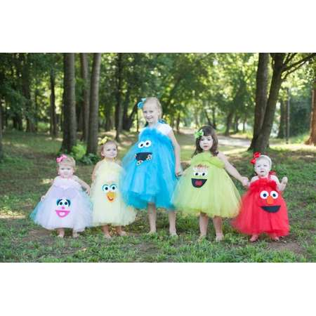 Abby Cadabby Inspired Costume Tutu Dress Sesame Street Inspired Costume Tutu Dress for Halloween or Birthday Parties thumb