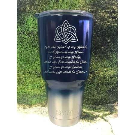 Blood of my Blood, Outlander custom travel mug, outlander gift, inspired, Powder coated Tumbler, Swig,  Jamie fraser, claire fraser thumb