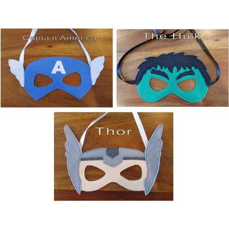 Super Hero Mask / Childrens Mask / Costume Mask /Captain America / Incredible Hulk / Thor thumb