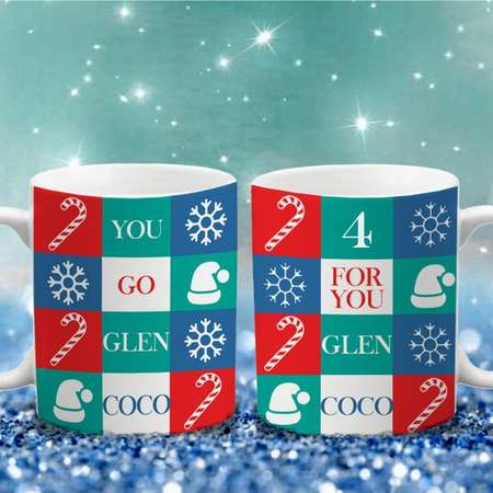 You Go Glen Coco - Mean Girls Inspired - Christmas - Wrap Around Color Accent Mug thumb