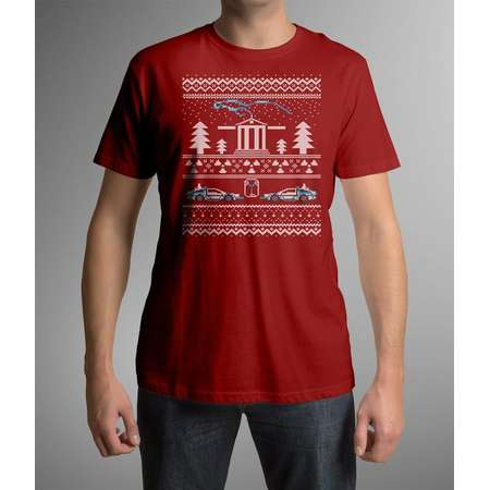 Unisex Men's / Women's Back to the Future Ugly Christmas Sweater t-shirt thumb
