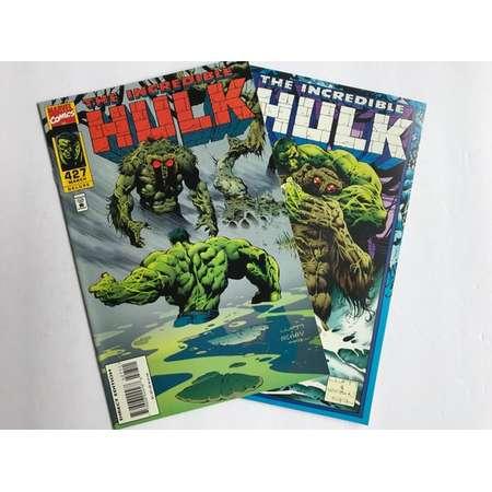 The Incredible Hulk Issues 427-428 (Peter David, Juggernaut, VF-NM, Marvel Comic Book Lot, 1994) thumb