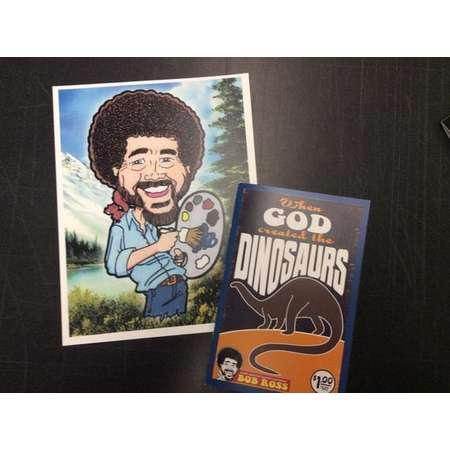 Last Dollar Comics Bob Ross Digital Print and Dinosaur Comic Book Min Comic Set Art thumb