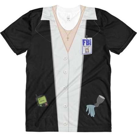 The X-Files - Dana Scully - Halloween Costume Tee - Alien-Hunting FBI Agent Costume T-Shirt thumb