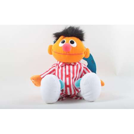 Tyco Sleep & Snore Ernie Sesame Street Doll Vintage Jim Henson Dressed Striped Pajamas Sleeping Mask Bedtime Plush ~ 170227 thumb
