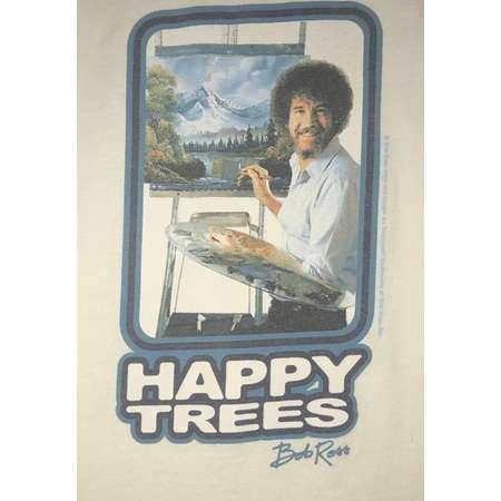 Vintage Original BOB ROSS Happy Trees Ringer T-Shirt-Size Medium, Sz M thumb