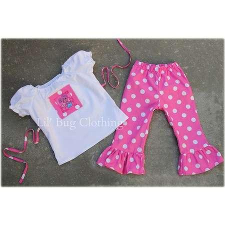 Custom Boutique Clothing Abby Cadabby Peasant Pant Set Birthday Sesame Street thumb