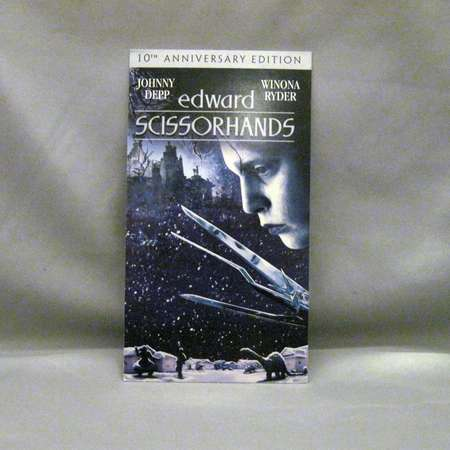 Edward Scissorhands Notebook - Recycled VHS Notebook thumb