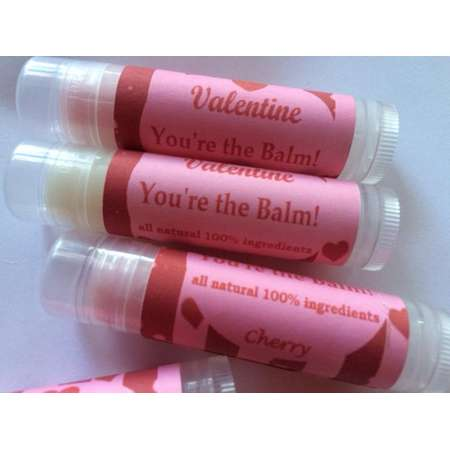 Valentine Lip Balm, Valentine You're The Balm Party Favors, Valentine Gift, Coworker gift thumb
