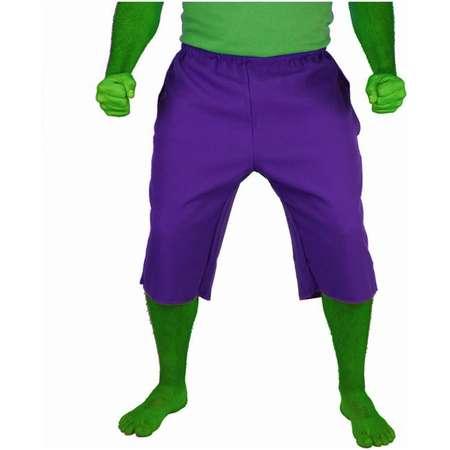 Incredible Hulk Purple Adult Costume Shorts Pants thumb
