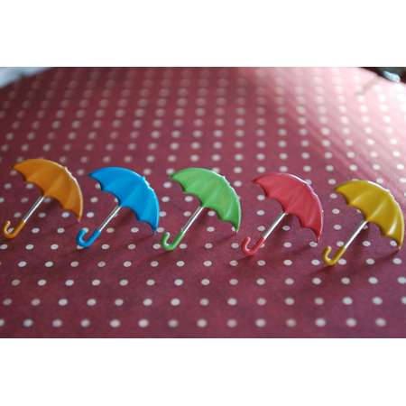 Umbrella Earrings -- Cute Umbrella Studs, Colorful, Mary Poppins Earrings, You Choose the Color! thumb
