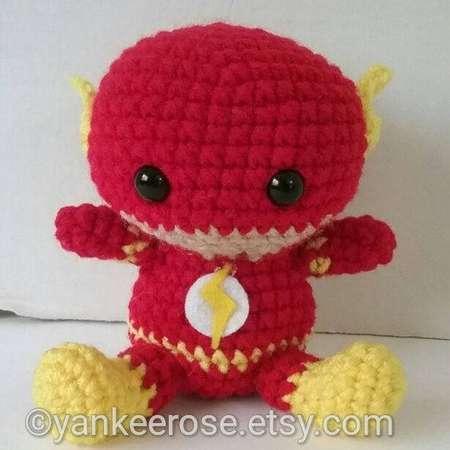The Flash Inspired Amigurumi Fat head Doll - Plushies - Baby Flash thumb