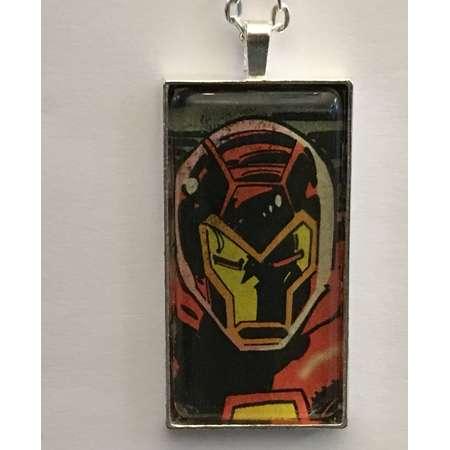Iron Man Necklace, Superhero Necklace, Comic Book Necklace, Avengers Necklace, Alien Necklace thumb