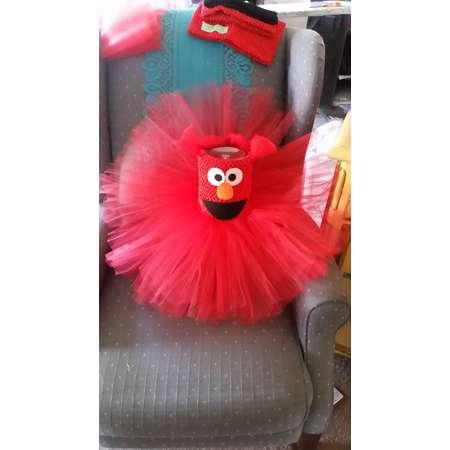 Birthday Elmo Sesame Street Costume Red Tutu Dress Girl Halloween Party Birthday thumb