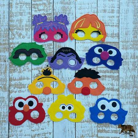 ADULT SIZEDress Up Mask Costume Accessory Sesame Street Inspired Masks - photo booth props, Party Favor, Dress Up, Costume thumb