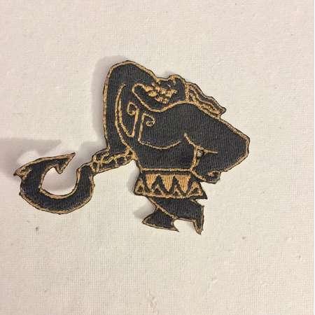 Iron On Patch Disney Inspired Fan Art Mini Maui Tattoo from Moana thumb