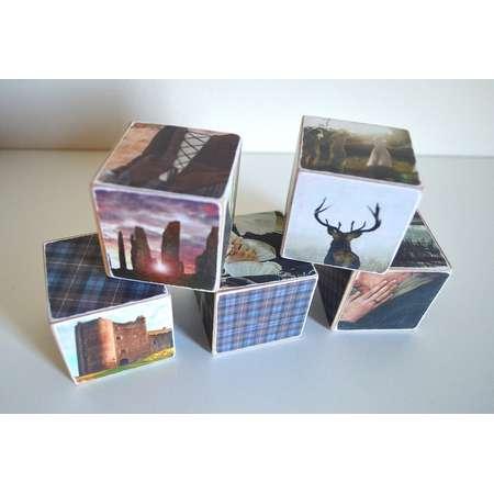 Outlander Blocks - Home & Library Shelf Decor or Gift, Book Nerd, Sassenach, Bookstagram, Claire and Jamie Fraser, Scottish, Diana Gabaldon thumb
