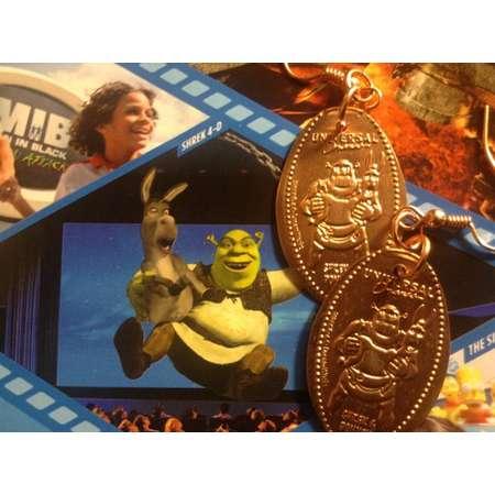 Shrek Universal Studios Pressed Penny Earrings! So Shiny! Last Chance for 2015! thumb