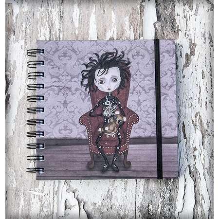 EDUARDO MANOSTIJERAS (Edward Scissorhands) printed notebook illustration original gift gothic steampunk film cinema tim burton cute thumb