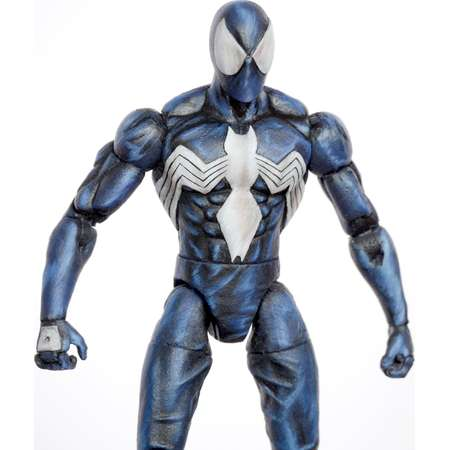 Spider-Man Marvel Legends Style Black Venom Symbiote Custom Action Figure thumb