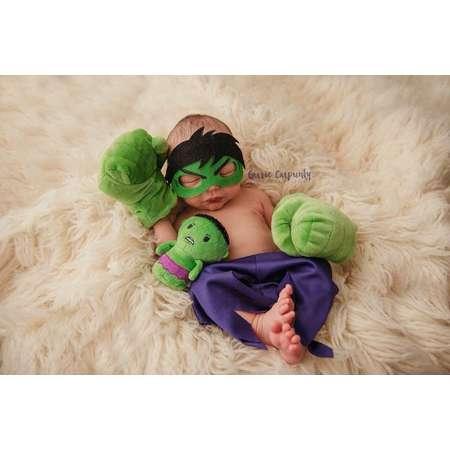 Hulk Newborn Hero Prop - Superhero for Boys - Incredible Hulk - Gloves NOT included - Hulk Baby - Baby Hulk Halloween Costume - Boy thumb
