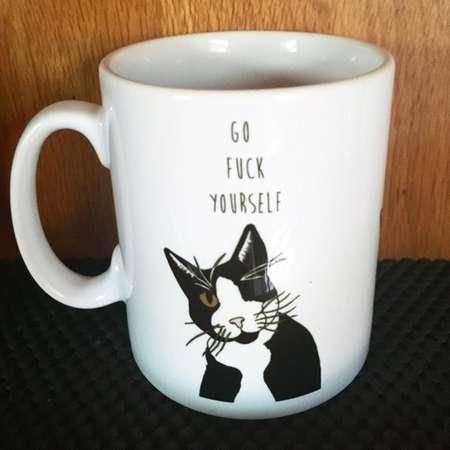 Go Fuck Yourself Coco one eyed Cat Gift mug thumb