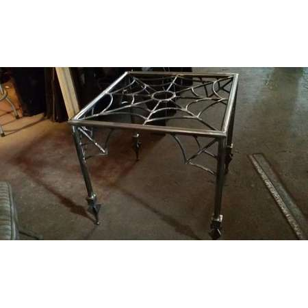 Spider web,end table,halloween, coffee table, goth, gothic furniture,metal table base, metal end table ,the munsters,the adams family,tattoo thumb