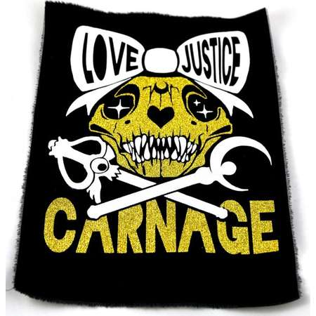 Love Justice Carnage Sailor Moon Back Punk Patches thumb