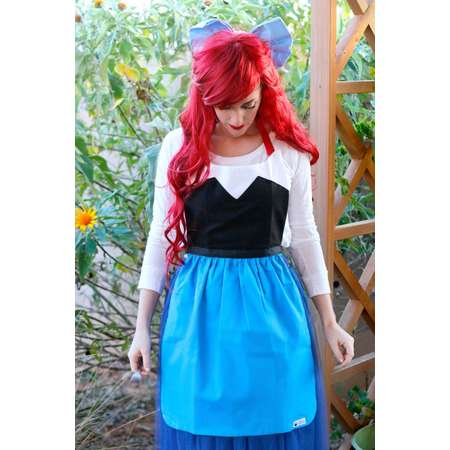 Land ARIEL The LITTLE MERMAID Disney princess inspired Costume Apron. Kiss the Girl. Teen/ Adult Women sizes 0-12 Birthday Party play bow thumb