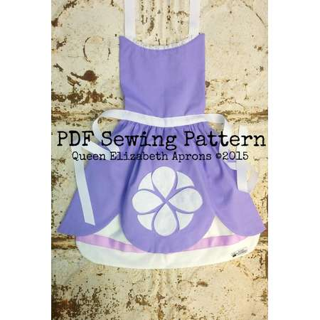 661d5c426 SOFIA the FIRST Disney Junior Jr. Princess inspired Child Costume Apron Pdf  Sewing PATTERN Girls