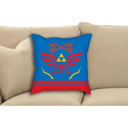 Hyrule Warriors The Legend of Zelda Nintendo Scarf Pattern Fan Art Throw Pillow thumb