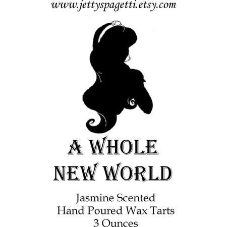 Whole New World Wax tarts- Jasmine Scented- Disney Inspired Scented Wax Tart- Wax melts - Aladdin thumb