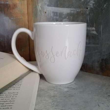 Sassenach Engraved Coffee Mug, Outlander Coffee Cups, Outlander Gifts, Gifts for Her, Cups and Mugs, Pretty Coffee Mugs, Minimalist Mugs thumb