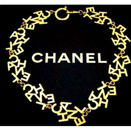 CHANEL, vintage, cc, coco, Logo Letters, gold, necklace, costume, necklaces, jewelry at theGlamVintage on Etsy thumb