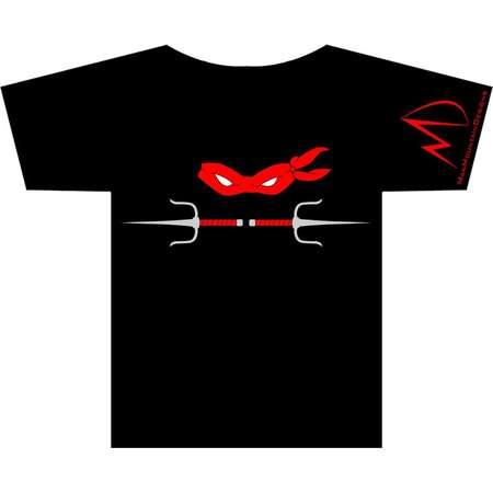 TMNT Teenage Mutant Ninja Turtles Raphael METALLIC Weapon T-shirt thumb
