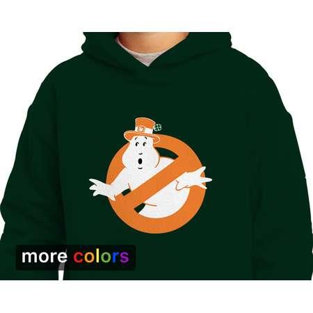 Irish Ghostbusters Leprechaun Kids Unisex Hoodie St Patricks Day Ireland Kiss Me I'm Irish thumb