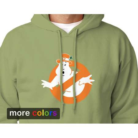 Irish Ghostbusters Leprechaun Adult Unisex Hoodie St Patricks Day Ireland Kiss Me I'm Irish thumb