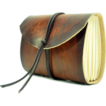 Leather book  - soft OX RAW - Coco - A5 - 400 pages - diary of Vickys World® thumb