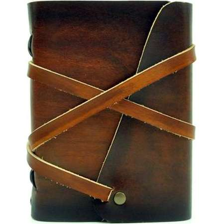 Leather book  - soft OX Loony - Coco - A6 - 400 pages - diary of Vickys World® thumb